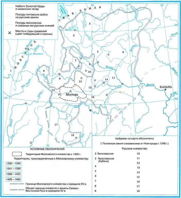Государство карта русских земель гдз 1462-1505 русское единое объединение в